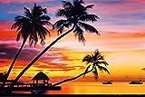 Velavary Sunset Art Print Poster 36 x 24in