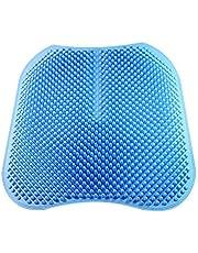 وسادة تدليك سيليكونية مثالية للاستخدام العام في ال4 فصول، مريحة وجيدة التهوية للسيارة والمكتب والكرسي، لون ازرق