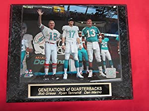 Bob Griese Ryan Tannehill Dan Marino DOLPHINS Collector Plaque w/8x10 Photo