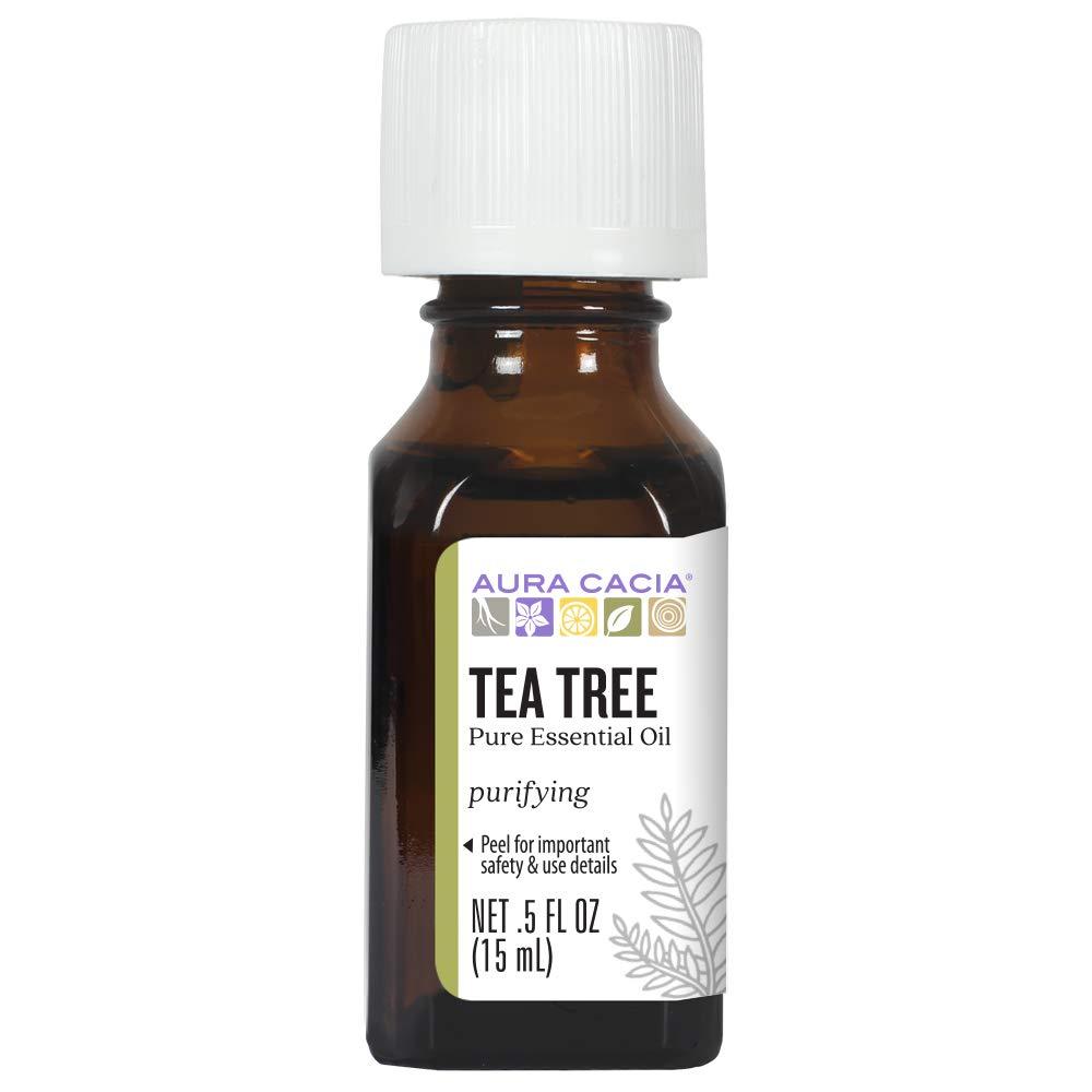 Aura Cacia - Pure Tea Tree Essential Oil | 0.5 fl. oz. | Purity Certified