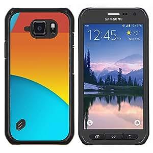 LECELL--Funda protectora / Cubierta / Piel For Samsung Galaxy S6Active Active G890A -- Rojo Amarillo Azul --