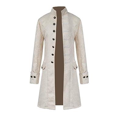 Dihope Homme Rétro Blazer Queue-de-Pie Steampunk Gothique Veste de Costume  Jacket Outwear Coat Manteau Mariage Prom Party Déguisement  Amazon.fr   Vêtements ... ba7db27d037