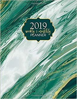 Amazon.com: 2019 Weekly and Monthly Planner: 12-Month Agenda ...