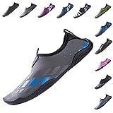 YQXCC Water Shoes Mens Womens Quick Drying Slip-On Aqua Shoes for Beach Surf Swim Driving Boating Yoga (6 B(M) US Women, Gray Blue)