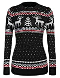 meaneor women's ugly christmas sweater patterns reindeer pullover jumper,s-xxl