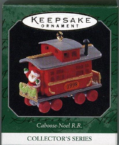 Hallmark Keepsake Ornament Caboose-Noel R.R. 1998 (Christmas Caboose)