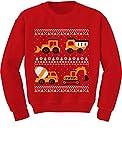 Tstars - Tractors & Bulldozers Ugly Christmas Sweater Toddler/Kids Sweatshirts