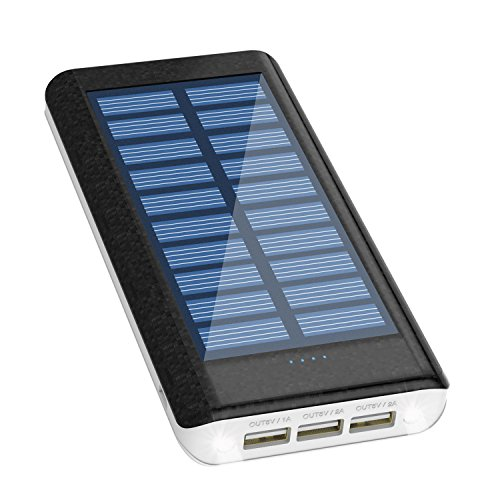 Solar Charger 24000mAh HuaF Power Bank Portable Charger Battery Pack With Dual Recharge Methods By Socket By Light For iPhone, iPad, Tablet, Samsung Galaxy, Android Phone And More by HuaF (Image #9)