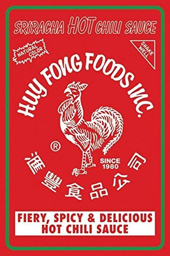 Sriracha HOT Chili Sauce Label  Art Print Poster Huy Fong Foods