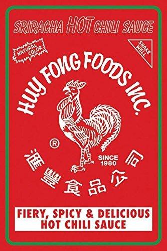 Sriracha HOT Chili Sauce Label Art Print Poster Huy Fong Foods