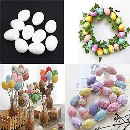 Baoblaze 10pcs White Modelling Styrofoam Eggs for DIY Party Christmas Decoration 8cm