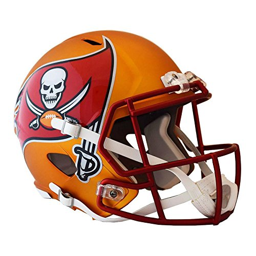 Tampa Bay Buccaneers BLAZE Officially Licensed Speed Full Size Replica Football Helmet by Riddell