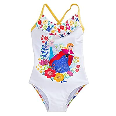 Disney Frozen Anna and Elsa Swimsuit for Girls White