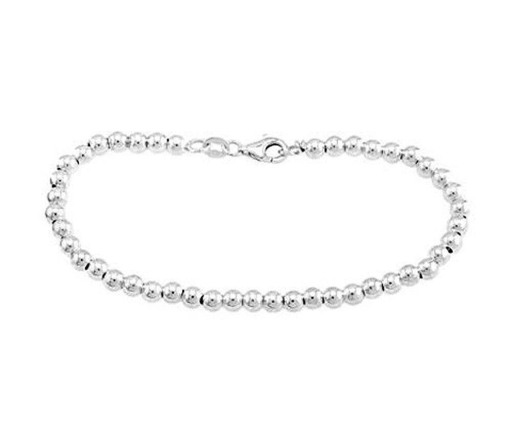 Sterling Silver Ball Bracelet Bead Bracelet (4mm)