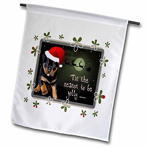 3dRose fl 128293 1 Running Rottweiler Christmas