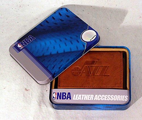 Rico Industries NBA Utah Jazz Embossed Leather Trifold Wallet, ()