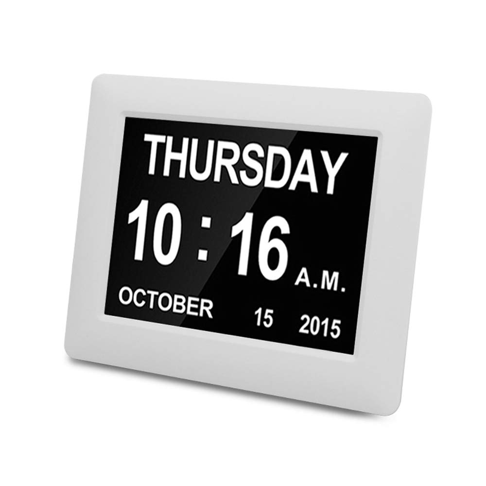 SOOTOP Digital-Kalender-Uhr Mit Tag Und Datum F/ür Senioren Extra Large 7-Zoll-Bildschirm