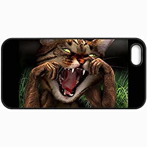 Customized Cellphone Case Back Cover For iPhone 5 5S, Protective Hardshell Case Personalized Baby Kittens Pictures Design Black