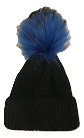 abb7e5b83b81c Image Unavailable. Image not available for. Color  Linda Richards Wool Hat  with Genuine Fur Pom ...