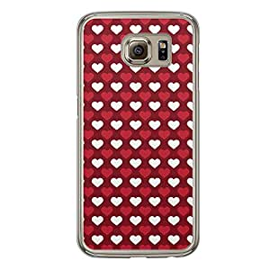 Loud Universe Samsung Galaxy S6 Love Valentine Printing Files A Valentine 66 Printed Transparent Edge Case - Red/White