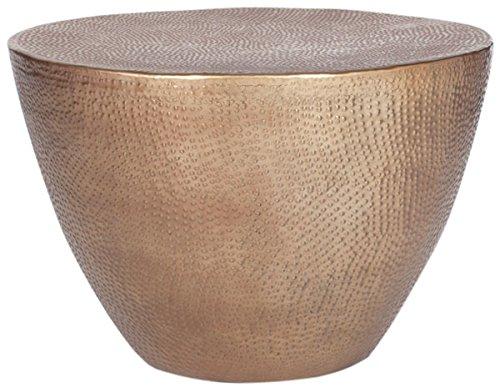 Safavieh Home Collection Myrtis Brass Coffee - Heart Cast Aluminum Table