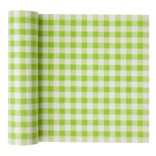 Cotton Printed Luncheon Napkin - 7.9 x 7.9 in - 20 units per roll - Pistachio Vichy (Ecru Gingham Checks)