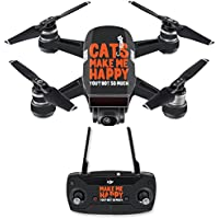 Skin for DJI Spark Mini Drone Combo - Cats Make Me Happy| MightySkins Protective, Durable, and Unique Vinyl Decal wrap cover | Easy To Apply, Remove, and Change Styles | Made in the USA