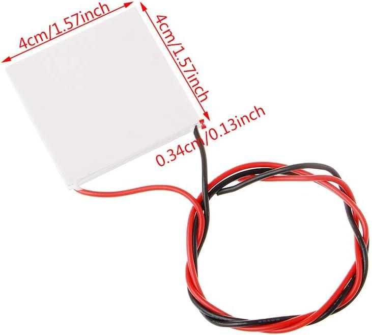 BIlinli Hochtemperatur-Peltier-TEG-Modul f/ür thermoelektrischen Stromerzeuger 40x40mm