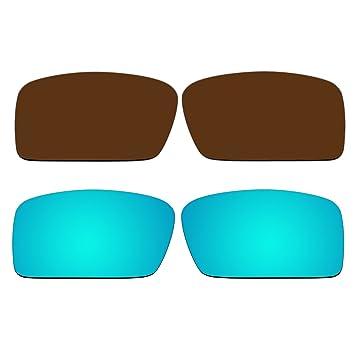 Bronce marrón y polarizadas Ice Blue Lentes de repuesto para Oakley Gascan Small (S)