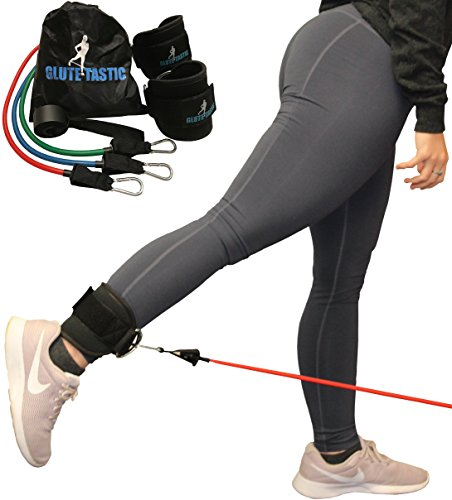 Core Prodigy Glute-Tastic - Ankle Kickback Strap with Resistance Bands for Butt & Hip Exercises