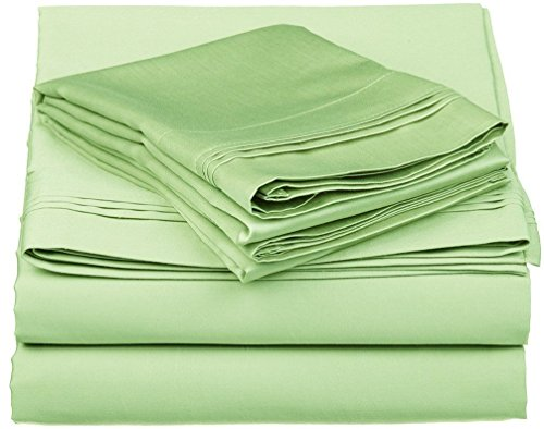 ACS Bedding 500 Thread Count Egyptian Cotton 4-Piece Sheet Set Cot Bed (30
