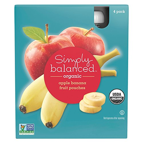- Apple Banana Fruit Pouches 4ct - Simply Balanced
