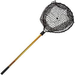 "Wakeman Fishing Retractable Rubber Landing Net with 35"" Handle"