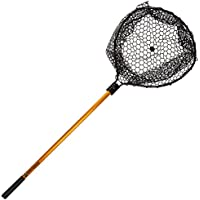 Wakeman Fishing Retractable Rubber Landing Net - 35 Inch...