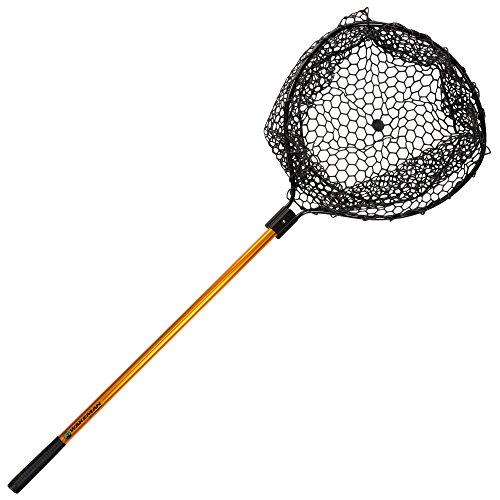 Net Extra Long Handle - Wakeman Fishing Retractable Rubber Landing Net - 35 Inch Handle