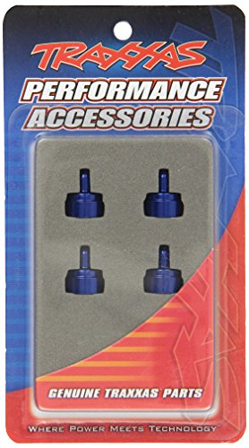 Nitro Rustler Accessories - Traxxas 3767A Blue-Anodized Aluminum Shock Caps (fits Ultra Shocks) (set of four)