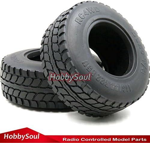 2pcs RC 1//10 2.2 Crawler Dune T//A Soft Tires OD 113mm For Crawler Track Upgrade
