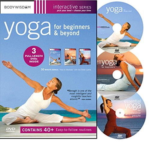 - Yoga for Beginners DVD Deluxe Set with 40+ Yoga Video Workouts: Yoga for Stress Relief, AM-PM Yoga & Inflexible People. Easy Yoga for Seniors & much More