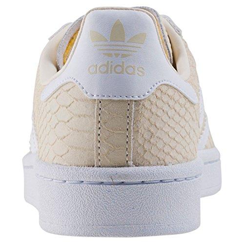 adidas Campus, Sneakers Basses Femme Multicolore (Cwhite/ftwwht/goldmt Cq2104)