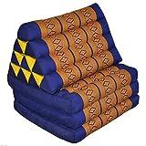 Tungyashop@thai Traditional Cushion 67x21x3 Inches Kapok Mattress (Yellow-Blue, 3 Fold)