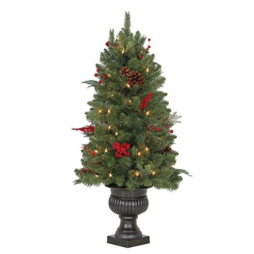 Artificial Christmas Trees Martha Stewart - 3 ft. Winslow Fir Potted Artificial Christmas Tree with 50 Clear Lights