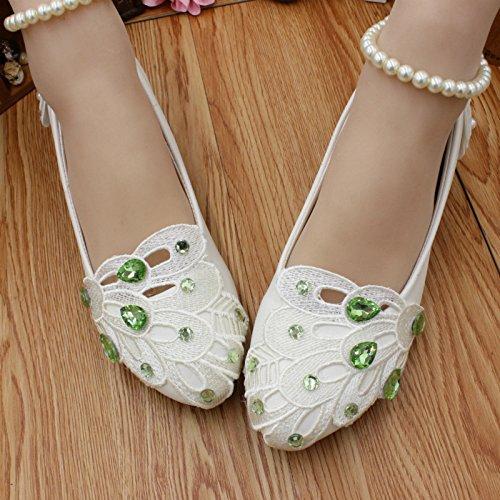 Boda Hechas Zapatos Perla Novia La amp; Verano A Green Vestido Mujeres Para Si Resorte Tobillo Mano De Dama Partido Banquete Pulsera Las El Y Honor Calcomanías f6Ix5fwA