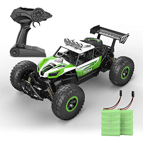 RC Car, SPESXFUN 2020 Newest 1:14 Scale High Speed Remote Control Car, 2.4Ghz Off Road RC Trucks with Two Rechargeable Batteries, Electric Toy Car for All Adults & Kids (Green)