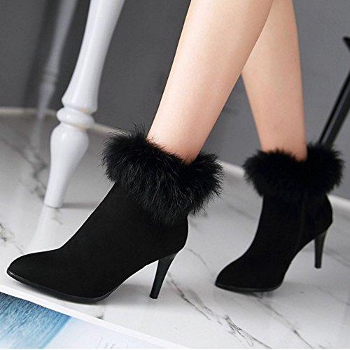 Zipper RAZAMAZA Women Black RAZAMAZA Boots Women Black RAZAMAZA Black Boots Boots Women Zipper Zipper 8xEqvwH