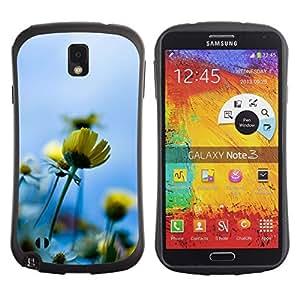 """Hypernova Slim Fit Dual Barniz Protector Caso Case Funda Para Samsung Note 3 [Azul Amarillo Sol Campo de Verano""""]"""