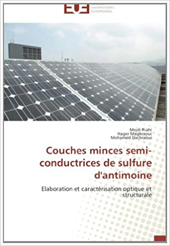 Couches Minces Semi Conductrices De Sulfure Dantimoine Elaboration