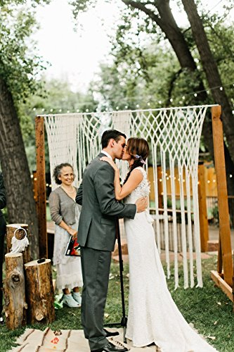 Reception Privacy Screen (Decor for Arbors and Arches at Ceremonies and Receptions Yarn Macrame Wedding Hanging)