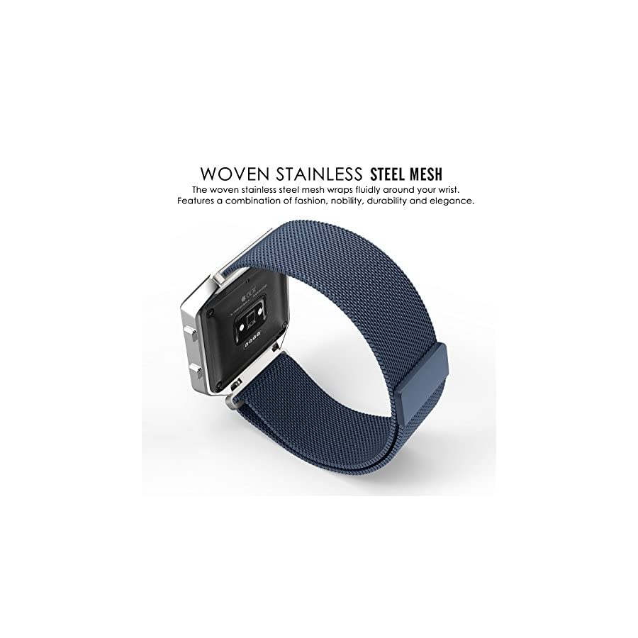 MoKo Stainless Steel Milanese Loop Watch Band Strap for Fitbit Blaze Watches.