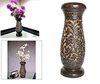 Amazon Whopperonline Wooden Flower Vase Carving Work Flower