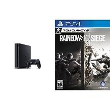 PS4 HW 1TB Core PlayStation Console - 1TB Slim Edition & Tom Clancy's Rainbow Six Siege - PlayStation 4 - Standard Edition